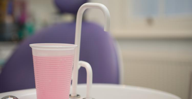 Mouthwash in cup