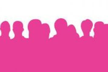 pink people silhouette